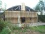 2009 obnova dřevěné skladové haly