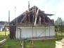2009 obnova štítu hospodářské budovy